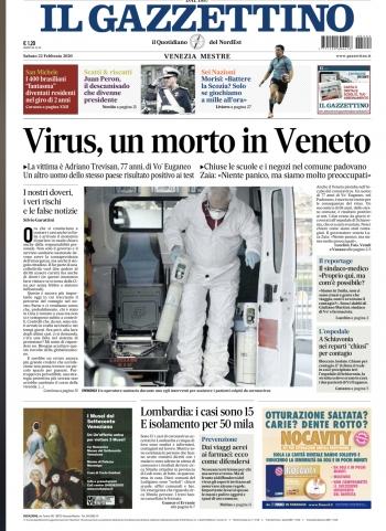Il Gazzettino 22 2 2020 Coronavirus Morto Nel Veneto Omceo Venezia