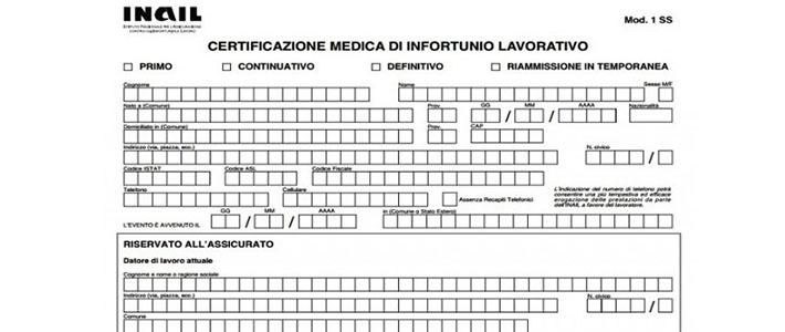 certificato medico inail